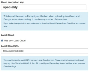 Cloud Setup Menu