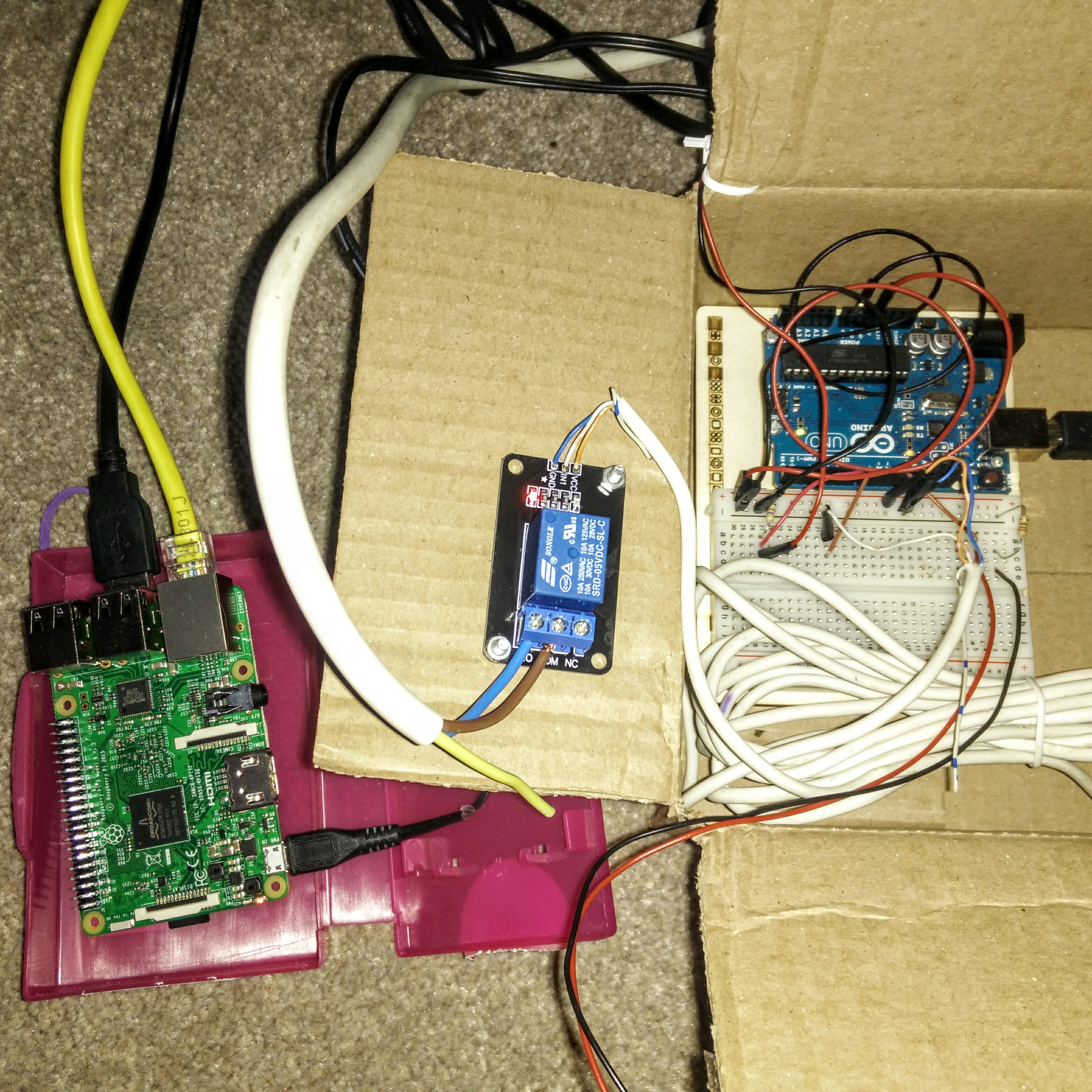 Controlling central heating with Arduino and Raspberry Pi